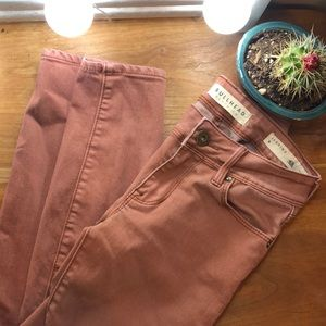 Lightly used burnt orange jegging jeans